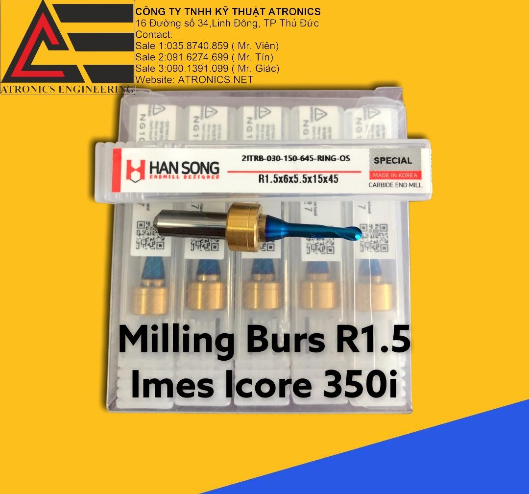 Mũi cắt CAD/CAM kim loại (Hangsong Korea) cho máy IMES ICORE 350i, 650i