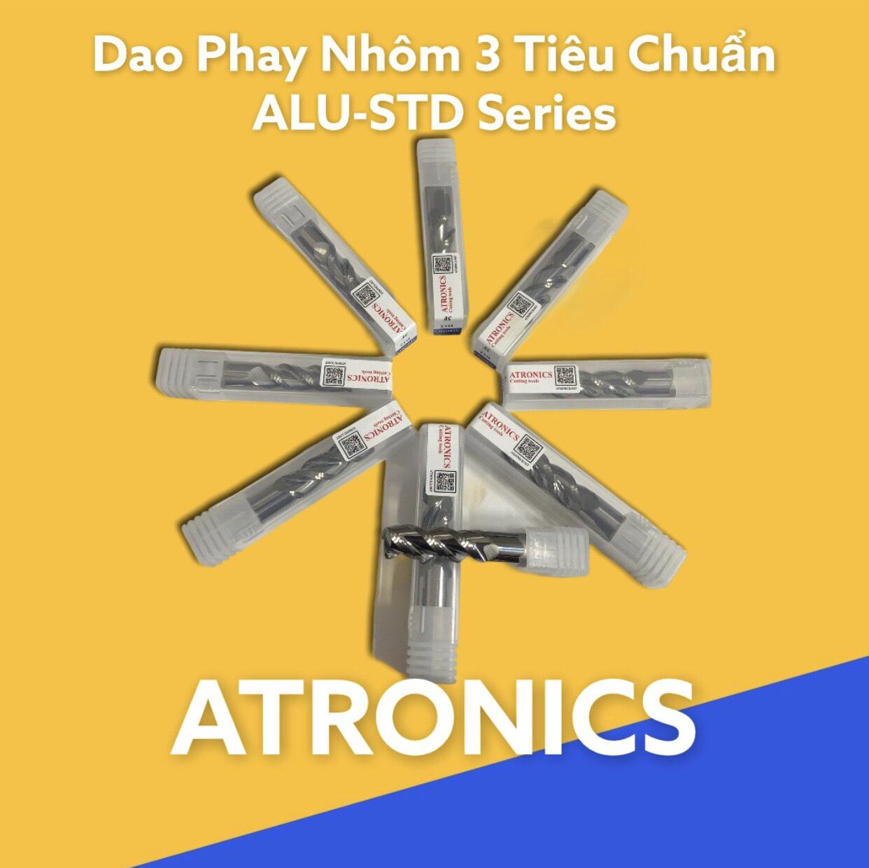 DAO PHAY NGÓN ATRONICS(Phay Nhôm không phủ, phủ DLC, Dao phá thô)